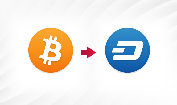 BTC to DASH png Convert