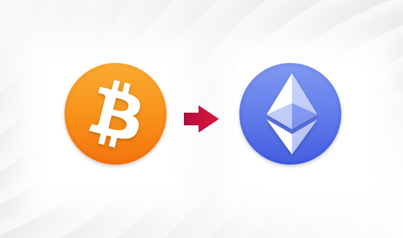 BTC to ETH png Convert