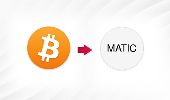BTC to MATIC png Convert