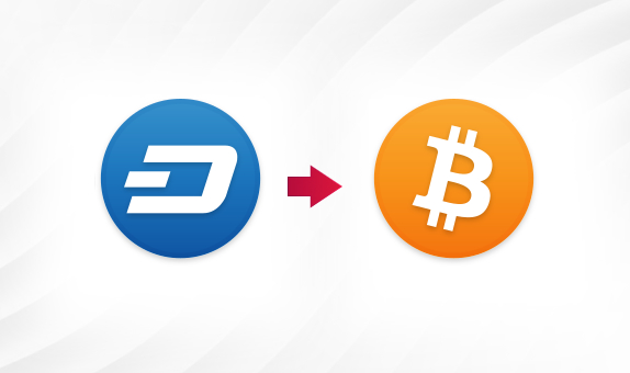 DASH to BTC png Convert