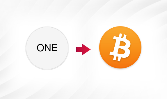 ONE to BTC png Convert